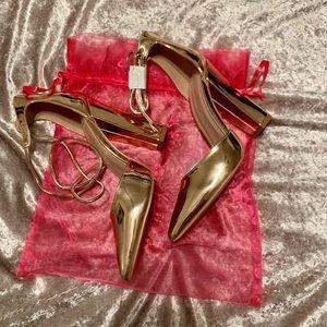 Rose Gold Pointy Heel